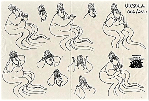 Walt Disney Sketches - Ursula