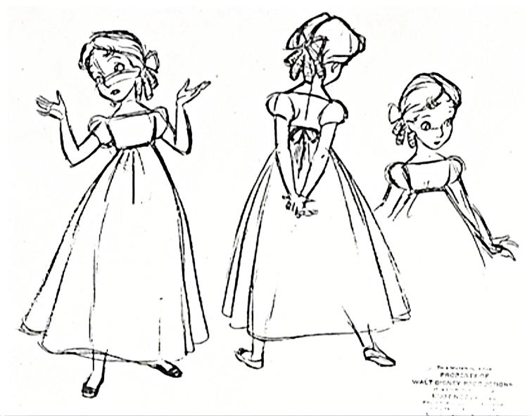 Character Design For Disney : Walt disney sketches wendy darling