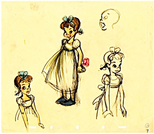 Walt Дисней Sketches - Wendy Darling
