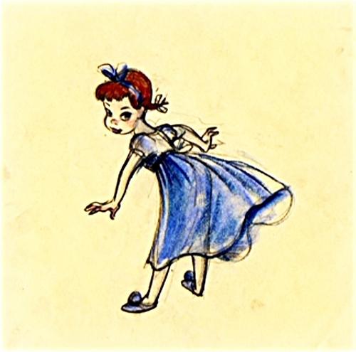 Walt Disney Sketches - Wendy Darling