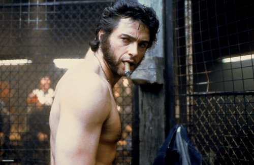 Hugh Jackman as Wolverine wallpaper with a chainlink fence titled X-Men