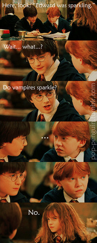do 吸血鬼 sparkle? hermione do 你 know