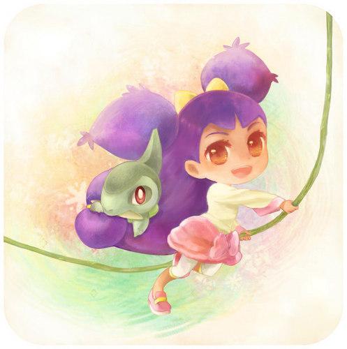 Iris from Isshu Hintergrund called iris