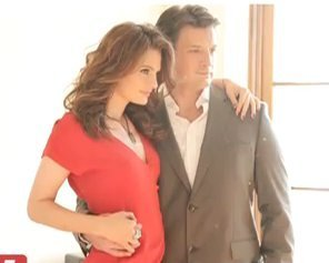 Nathan Fillion & Stana Katic karatasi la kupamba ukuta possibly with a well dressed person, a business suit, and a suit entitled <3Stanathan<3