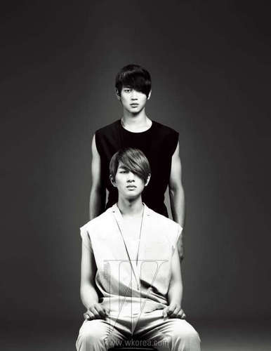 Shinee wallpaper entitled [Official Photo] Onew and Minho for W Magazine January 2011 Issue