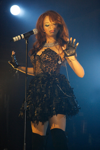 Alexis performing