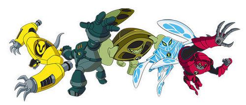 Ben 10: Ultimate Alien achtergrond probably with anime entitled Andromeda Aliens