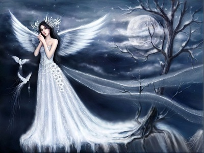 angeli wallpaper possibly with a cena dress called Moon Angel