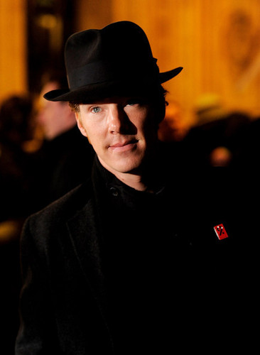 Benedict Cumberbatch wallpaper with a fedora, a business suit, and a campaign hat titled Arrivals: The Prince's Trust Rock Gala 2010