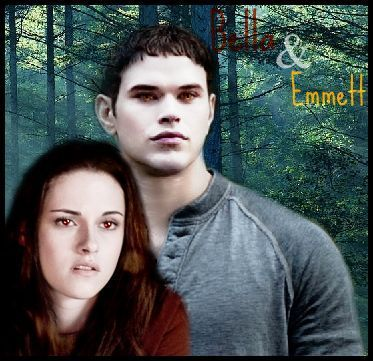 Twilight Series wallpaper containing a portrait entitled Bella & Emmett