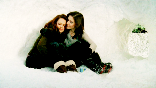 Brooke and Haley wallpaper with an igloo, tobogganing, and a snowbank titled Brooke&Haley