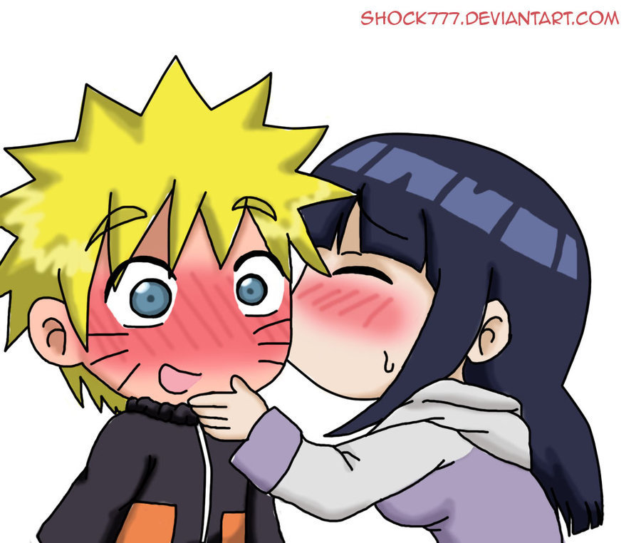 Chibi Kisses - NaruHina Fan Art (19624345) - Fanpop