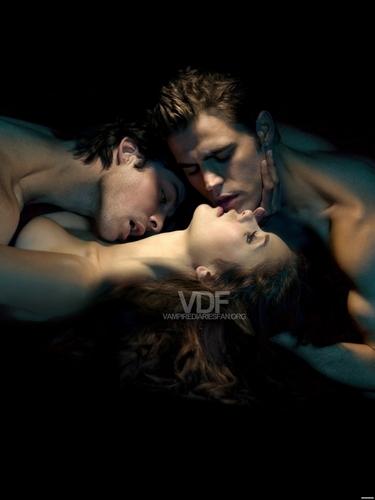 Damon ,Elena, Stefan