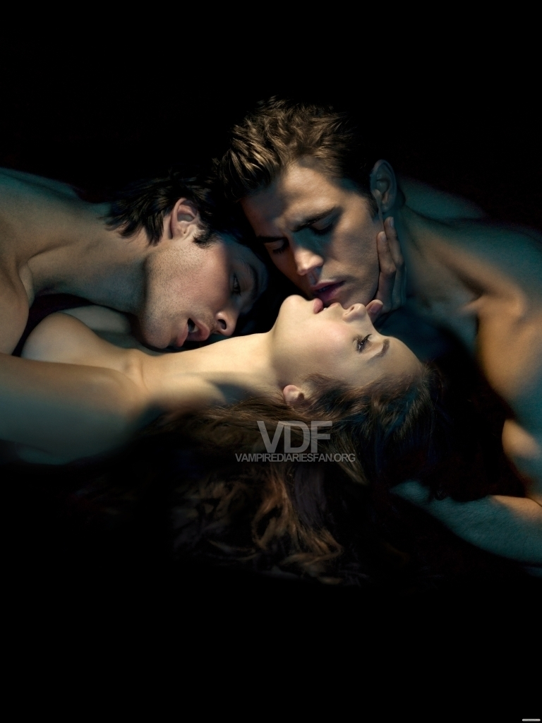 Damon ,Elena, Stefan - Damon & Elena Fan Art (19638044 ...