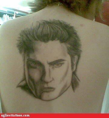 Harry Potter vs Twilight fond d'écran entitled Edward Tattoo Fail