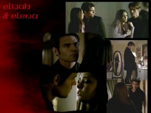 Elijah 바탕화면 entitled Elijah & Elena 바탕화면