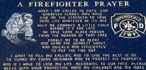 Firefighter Prayer