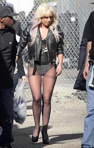 Gaga filming