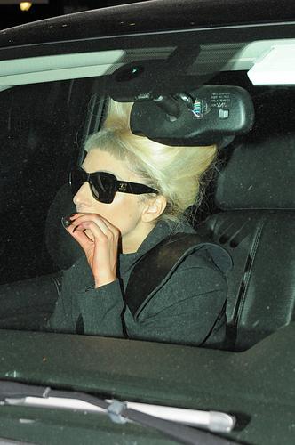 Gaga leaves Madison Square Garden