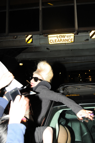 Gaga leaves Madison Square Garden