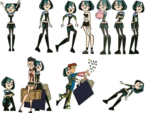 Total Drama Island karatasi la kupamba ukuta probably containing a khukuri called Gwen s Moves
