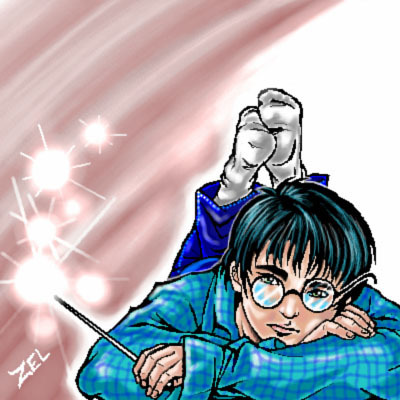 Harry Potter kertas dinding with Anime titled Harry