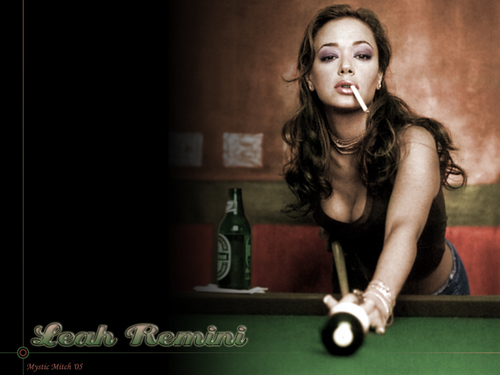 Leah Remini wallpaper containing a billiard room, a pool table, and a poolroom called Hot Leah!
