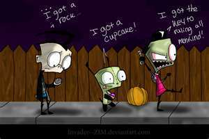 Invader Zim gotta rock