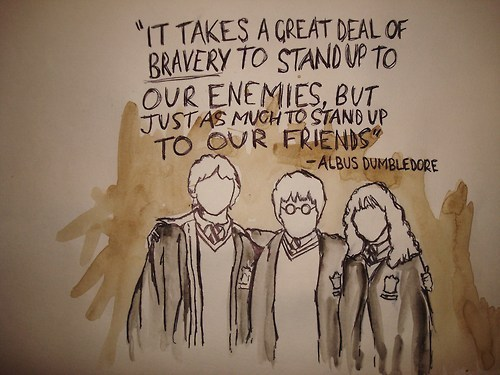 It takes a great deal of bravery...
