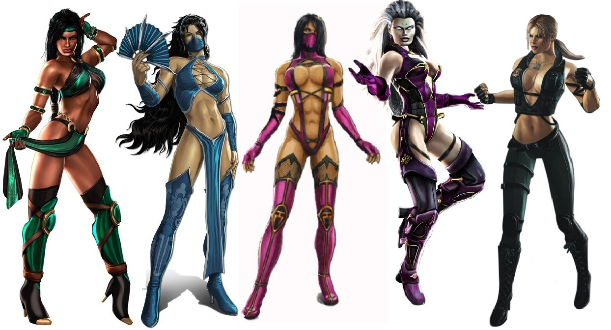 Jade-Kitana-Mileena-Sindel-and-Sonya-the-ladies-of-mortal-kombat