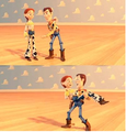 Jessie and Woody dancing - toy-story screencap