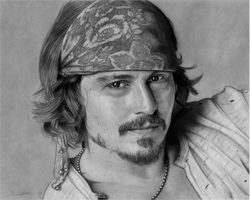 Johnny Depp wallpaper called Johnny Pencil drawing