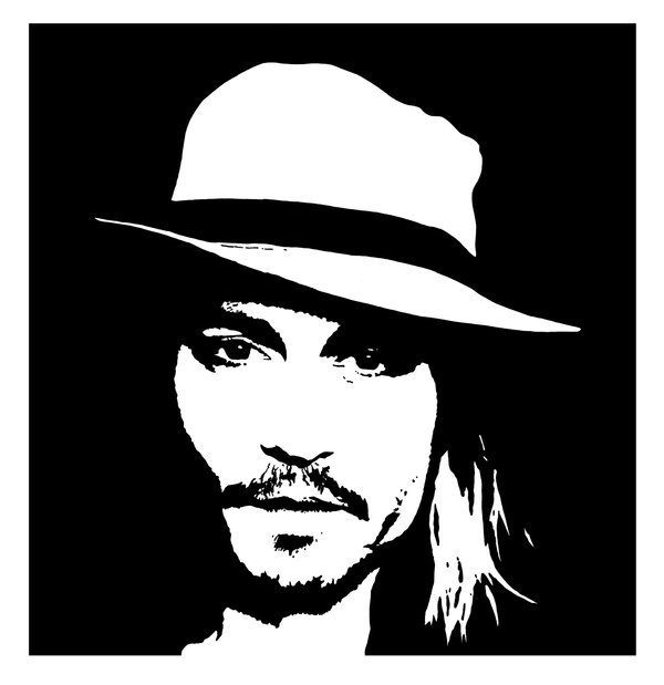 Johnny depp imgenes johnny black and white fondo de pantalla and johnny depp fondo de pantalla probably containing a fedora and a campaign hat called johnny black altavistaventures Image collections