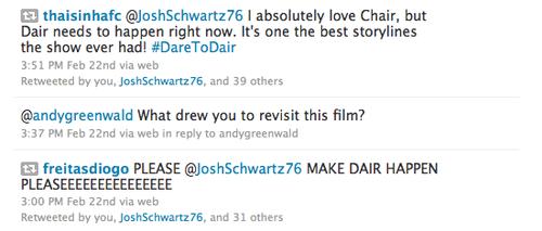 Josh Schwartz retweeting Dair