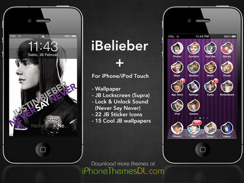 Justin Bieber iPhone iPod Touch Theme