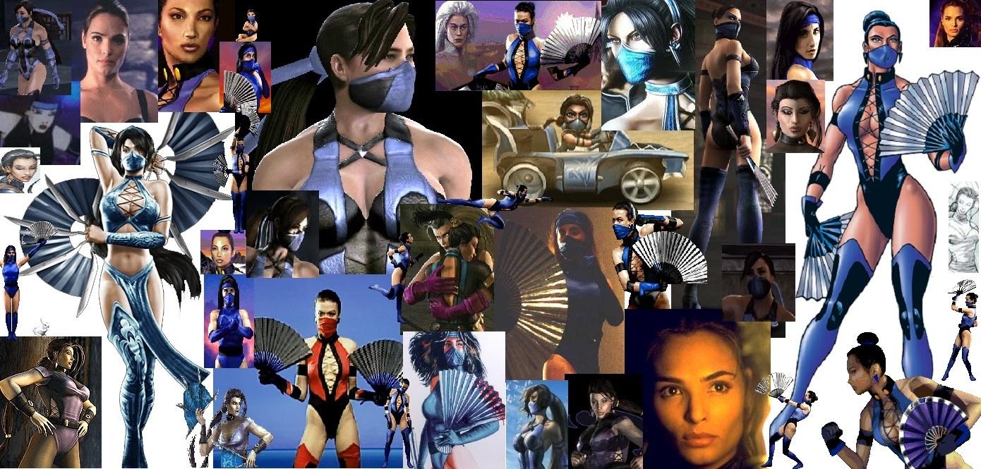 Kitana through the years collage