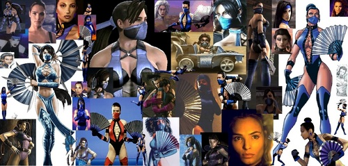 Kitana through the years collage