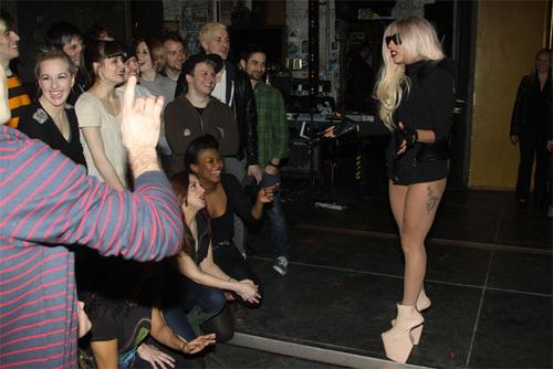 Lady Gaga Visits Broadway's 'American Idiot'