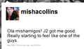 Misha's tweet from The French Mistake!