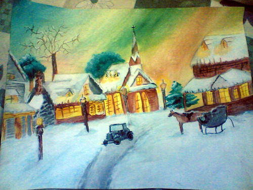 My Snow Painting