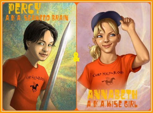 Percy Jackson And Annabeth Chase wallpaper with anime titled Percabeth!!<3 From the books!!