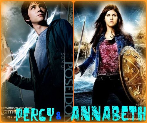 Percy Jackson And Annabeth Chase wallpaper probably containing a sign and a portrait called Percabeth!!<3