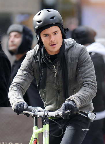 Zac Efron images Photos: 2011- Zac Filming With Michelle Pfeiffer in NYC-(24/02) HD wallpaper and background photos