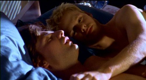 Queer As Folk wallpaper possibly with a neonate and skin titled Queer as Folk 1x01 Screencap