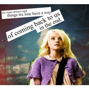 Luna Lovegood wallpaper probably containing a pullover and a cardigan called Quotes