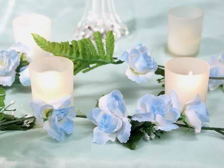 Pastel Blue Rose Garland