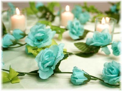 Aqua Rose Garland