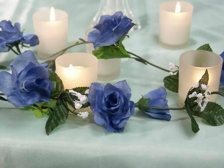 Dark Blue Rose Garland