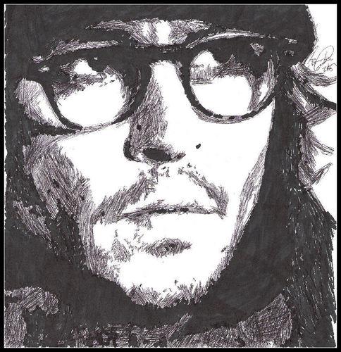 Secret Window/Mort Rainey pencil drawing