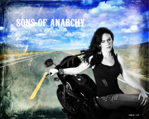 Sons Of Anarchy wallpaper probably with a sign and anime called Tara Knowles